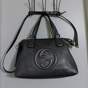 Gray Gucci Handbag Original Dust Bag & Auth Cards